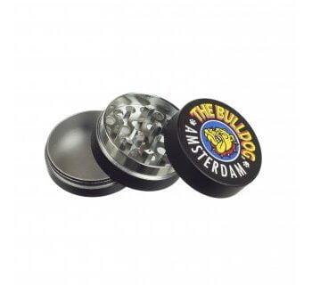 GRINDER METAL THE BULLDOG BLACK  GRINDER METAL THE BULLDOG BLACK bulldog grinder metal black 3part open 350x320
