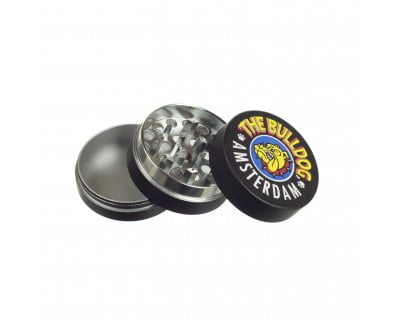 GRINDER METAL THE BULLDOG BLACK  GRINDER METAL THE BULLDOG BLACK bulldog grinder metal black 3part open