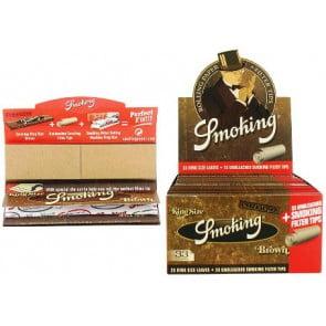 SMOKING BROWN KS PAPER TIPS  SMOKING BROWN KS PAPER TIPS 58116 C